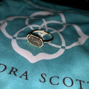 RETIRED Kendra Scott Ella ring in Platnium Drusy